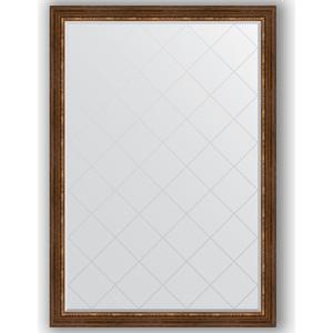 Зеркало с гравировкой поворотное Evoform Exclusive-G 131x186 см, в багетной раме - римская бронза 88 мм (BY 4492) зеркало с гравировкой поворотное evoform exclusive g 56x74 см в багетной раме римская бронза 88 мм by 4019