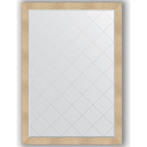 Зеркало с гравировкой поворотное Evoform Exclusive-G 131x186 см, в багетной раме - золотые дюны 90 мм (BY 4494)