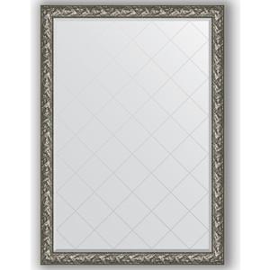 цены Зеркало с гравировкой поворотное Evoform Exclusive-G 134x188 см, в багетной раме - византия серебро 99 мм (BY 4501)