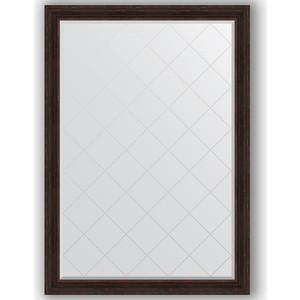 Зеркало с гравировкой поворотное Evoform Exclusive-G 134x189 см, в багетной раме - темный прованс 99 мм (BY 4506) зеркало с гравировкой evoform exclusive g 99x174 см в багетной раме травленое серебро 99 мм by 4418