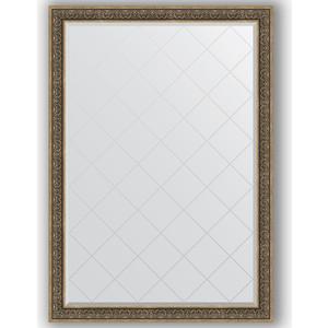 Зеркало с гравировкой Evoform Exclusive-G 134x189 см, в багетной раме - вензель серебряный 101 мм (BY 4508)