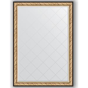 Зеркало с гравировкой поворотное Evoform Exclusive-G 135x190 см, в багетной раме - барокко золото 106 мм (BY 4509) зеркало с гравировкой поворотное evoform exclusive g 80x135 см в багетной раме барокко золото 106 мм by 4251