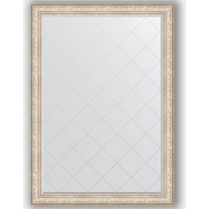 Зеркало с гравировкой поворотное Evoform Exclusive-G 135x190 см, в багетной раме - виньетка серебро 109 мм (BY 4512)