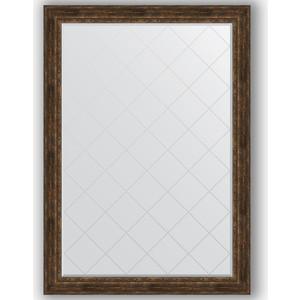 Зеркало с гравировкой поворотное Evoform Exclusive-G 137x192 см, в багетной раме - состаренное дерево с орнаментом 120 мм (BY 4516)