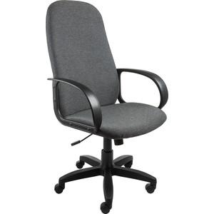 Кресло Алвест AV 108 PL (727) MK ткань 415 серая с черн. ниткой