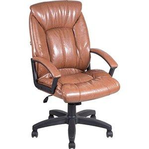 Кресло Алвест AV 124 PL (681Н) МК эко кожа 220 коньяк кресло алвест av 124 pl 681н мк эко кожа 202 слоновая кость