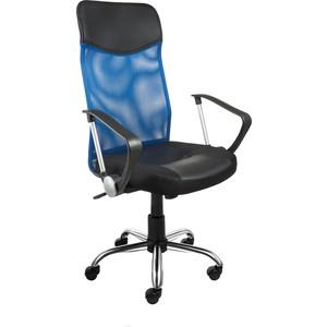 Кресло Алвест AV 128 CH (682 SL) МК кз TW сетка/сетка односл 311/455/471 черн/черн/синяя, шт кресло алвест av 215 pl tw сетка 452 455 син черн