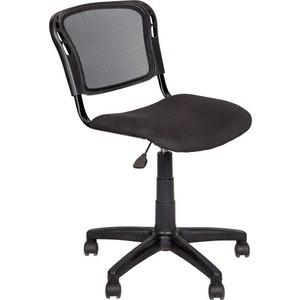 цена на Кресло Алвест AV 221 PL ткань 418 черная/сетка 470 черная