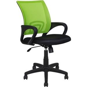 Кресло Алвест AV 214 PL (696) МК TW сетка 455 черная/сетка 476 салатовая