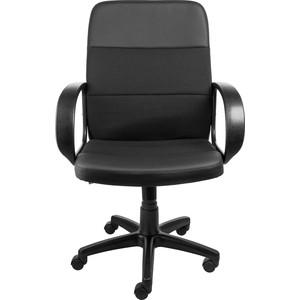 Кресло Алвест AV 209 PL (727) MK ткань 418 черная / кз 311 черный