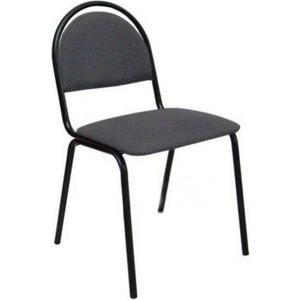 Кресло Алвест Стул стандарт, тк. 417 серая, к-с черный