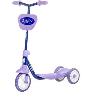 Самокат городской FOXX Baby с пластиковой платформой и EVA колеса ми 115мм, щиток на руль, ультрамари (115BABY.BL7)
