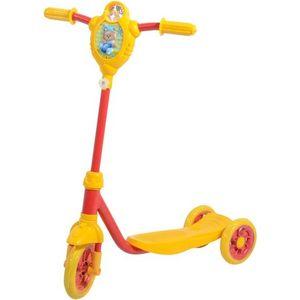 FOXX Самокат городской Baby с пластиковой платформой и EVA колеса ми 115мм, желто-красный (115BABY.YRD7)