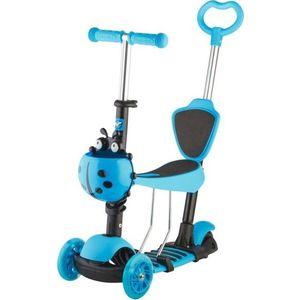 NOVATRACK Самокат-кикборд Disco-kids, детский трансформер, max 40кг, голубой (120SB.DISCOKIDS.BL7)