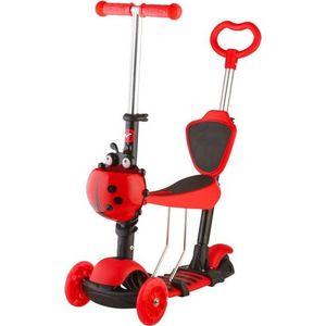 Самокат-кикборд NOVATRACK Disco-kids, детский трансформер, max 40кг, красный (120SB.DISCOKIDS.RD7) велосипед детский novatrack urban цвет красный черный 16