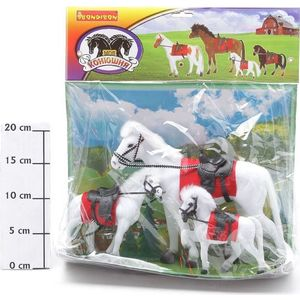 Bondibon Лошадь с 2 жеребятами (ВВ0276) игровые фигурки bondibon игровая лошадь 12 5 дюймов