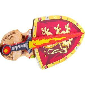 Bondibon Набор оружия мягкого, щит и меч, Отважный воин, 25х12х15, 5 см. (ВВ1130)