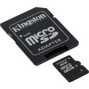 Kingston microSD Card 4Gb class 4 + adapter (SDC4/4GB)