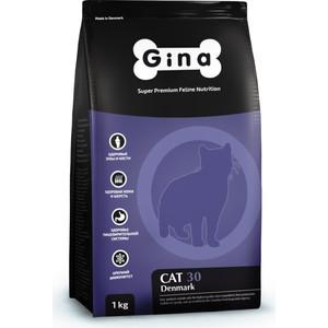 Сухой корм Gina Denmark CAT 30 с курицей и рисом для взрослых кошек 18кг (080117.3) сухой корм gina denmark dog classic с курицей и рисом для взрослых собак до 7 лет 18кг 080115 2