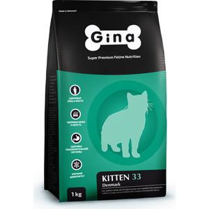 Сухой корм Gina Denmark KITTEN 33 с курицей, ягненком и рисом для котят 18кг (080015.3)
