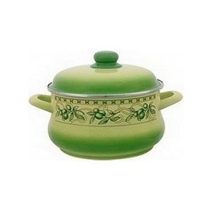 Кастрюля эмалированная 2.2 л Metrot Эксклюзив Оливки (082840) набор посуды metrot оливки