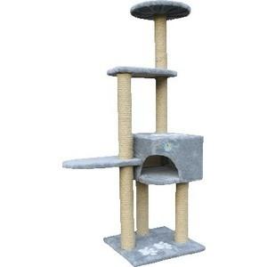 Когтеточка Зооник Комплекс 4-х этажный с лапками для кошек 460 х 760 х 1510см (22047) когтеточка зооник дом малый цветной мех для кошек 340 х 340 х 600см 2209 page 9