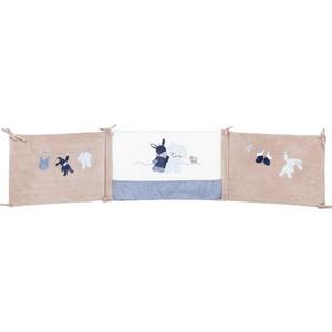 Бортик Nattou Alex & Bibou Ослик и Кролик для кровати универсальный 321389