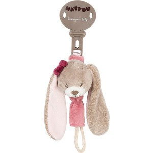 Игрушка мягкая Nattou Держатель соски Pacifinder Nina, Jade & Lili Кролик 987202