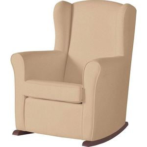 Кресло-качалка Micuna Wing/Nanny chocolate/beige искусственная кожа