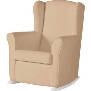 Кресло-качалка Micuna Wing/Nanny white/beige искусственная кожа