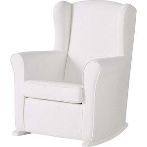 Кресло-качалка Micuna Wing/Nanny white/white искусственная кожа цена и фото