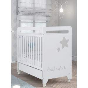 Кровать Micuna Istar 120*60 white/grey кровать micuna little chick 120 60 white pink