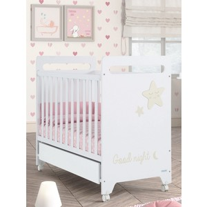 Кровать Micuna Istar 120*60 white/sand кровать micuna little chick 120 60 white pink