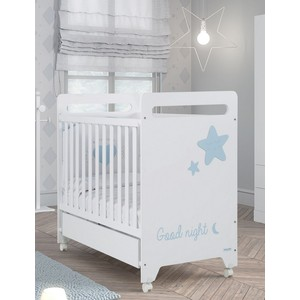 Кровать Micuna Istar 120*60 white/sky blue кровать micuna little chick 120 60 white pink