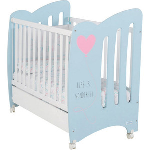 Кровать Micuna Wonderful 120*60 sky blue/white кровать micuna little chick 120 60 white pink