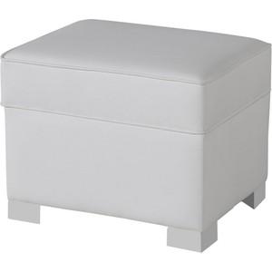 Пуф Micuna для кресла-качалки Foot rest white/white искусственная кожа