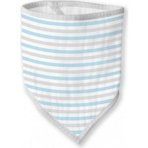Бандана-нагрудник SwaddleDesigns Marquisette Blue Simple Stripes (SD-670PB)