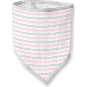 Бандана-нагрудник SwaddleDesigns Marquisette Pink Simple Stripes (SD-670PP)