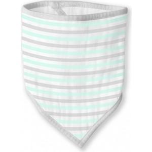 Бандана-нагрудник SwaddleDesigns Marquisette SeaCrystal Simple Stripes (SD-670PSC)