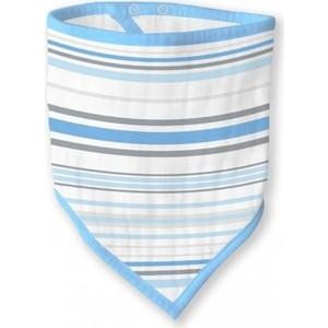 Бандана-нагрудник SwaddleDesigns муслиновая Blue Stripes (SDM-540B)