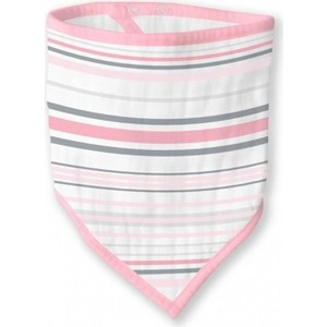 Бандана-нагрудник SwaddleDesigns муслиновая Pink Stripes (SDM-540P) бандана нагрудник swaddledesigns муслиновая pink french dots sdm 541pp