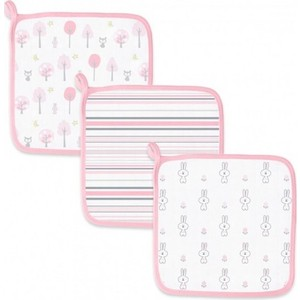Детские мочалки SwaddleDesigns Washcloth Muslin Pink Thicket (SDM-711P)