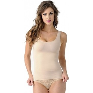 Майка утягивающая Belly Bandit Mother Tucker Scoop Neck Nude S (40-44) (898997002912) scoop neck ruffle trim bodysuit