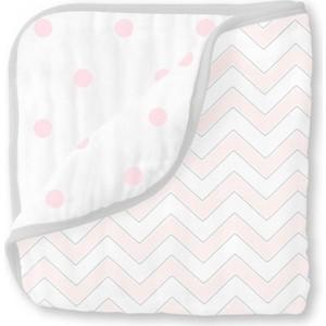 Одеяло муслиновое SwaddleDesigns Luxe Muslin Pale Pink Chevron (SDM-351PP)