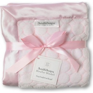 Плед детский SwaddleDesigns Stroller Blanket Pstl Pink Puff C (SD-058PP)