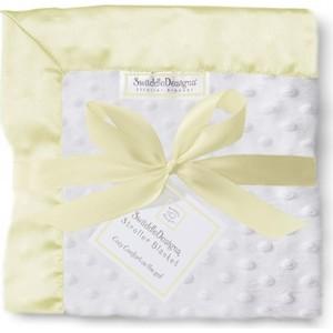 Плед детский флис SwaddleDesigns Stroller Blanket WH Plush/PY Velvet (SD-179PY)