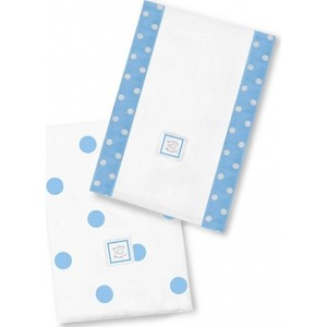 Полотенчики SwaddleDesigns Marquisette Baby Burpie Blue Big Dots (SD-357B)