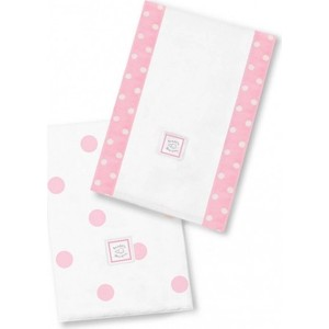 Полотенчики SwaddleDesigns Marquisette Baby Burpie Pink Big Dots (SD-357P)