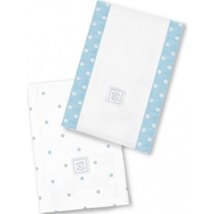 Полотенчики SwaddleDesigns Baby Burpie Set Blue Dottie Star (SD-629PB)