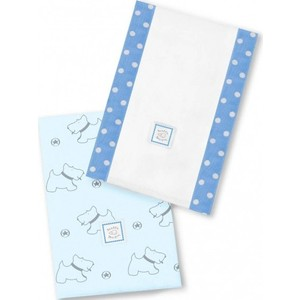 Полотенчики SwaddleDesigns Baby Burpie Set Blue Gray Doggie (SD-611B) игрушка ecx ruckus gray blue ecx00013t1